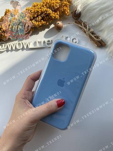 Чехол iPhone 11 Pro Silicone Case /cornflower/ синие сумерки 1:1
