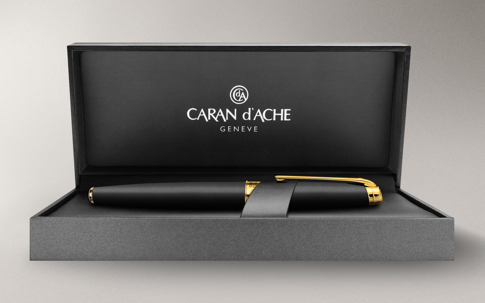 Carandache Leman - Black Matte GP, перьевая ручка, F