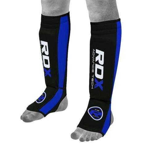 Щитки RDX Neoprene Gel Shin Instep Pads MMA Leg Foot Guards Blue