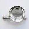 Основа для броши с круглой площадкой 30 мм с двумя креплениями (цвет - платина)