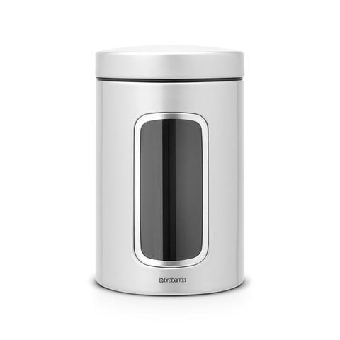 Контейнер для сыпучих продуктов с окном (1,4 л), Серый металлик, арт. 243509 - фото 1