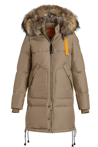 Пальто жен Parajumpers LONG BEAR 770 крем, капюшон енот