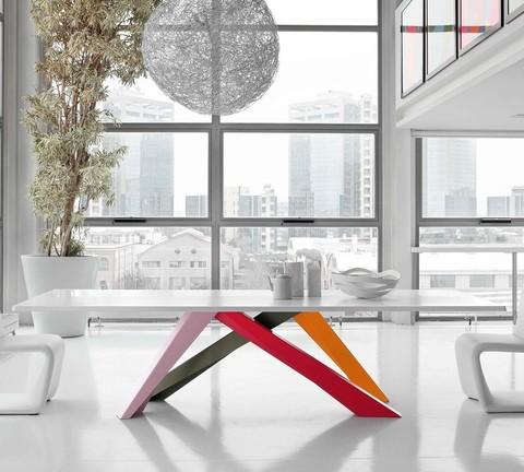 replica table BONALDO BIG TABLE  GLASS ( by Steel Arts)