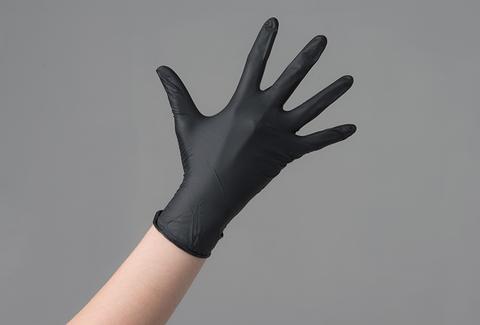 Перчатки нитрил черные M, 100 шт