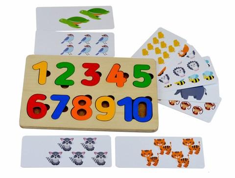 Рамка-вкладыш Цифры с карточками, RadugaKids (Радуга Кидс)