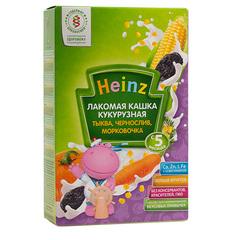 """Каша """"Heinz"""" лакомая кукурузная с тыквой черносливом морковочкой (с 5 месяцев) 200 г"""