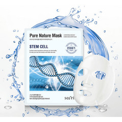 Маска для лица тканевая ANSKIN Secriss Pure Nature Mask Pack-Stem cell 25 мл