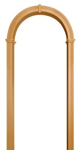 Арка межкомнатная ПВХ Лесма, Валенсия, цвет миланский орех