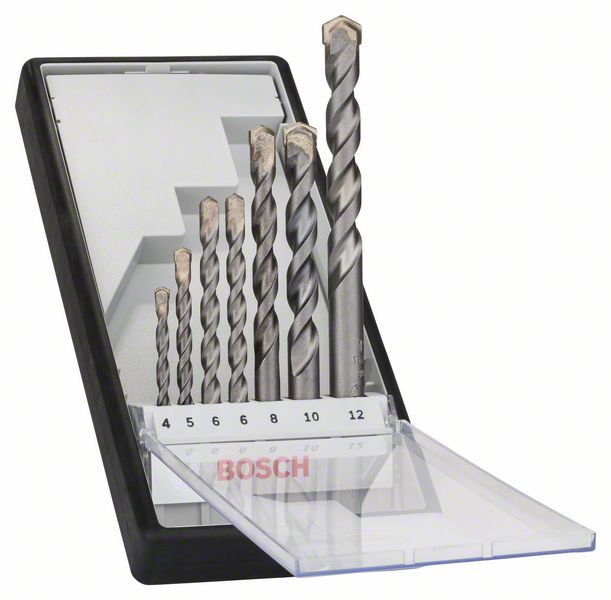 7 сверл по бетону Silver Percussion Robust Line набор Bosch 2607010545
