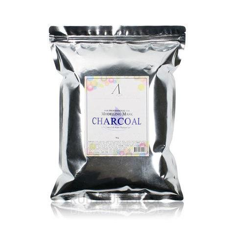 ANSKIN Маска альгинатная для жирной кожи с расширен.порами (пакет) Charcoal Modeling Mask / Refill 1 кг