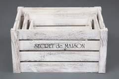 Набор ящиков Secret De Maison CIBOIRE ( mod. HX16-832 S/3 ) — античный белый