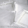 Наволочка для валика 15х40 Christian Fischbacher Luxury Nights 768 белая вышивка