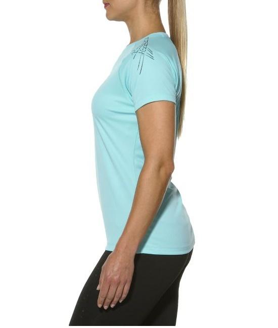 Женская одежда для фитнеса Asics Stripe SS Top (126232 8009) мятная фото