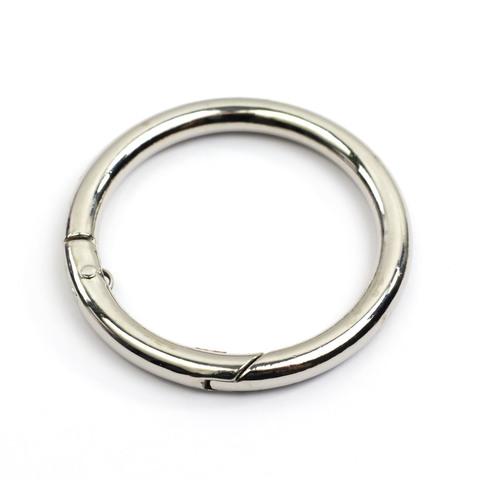 """Карабин-кольцо 38мм """"Серебро"""""""