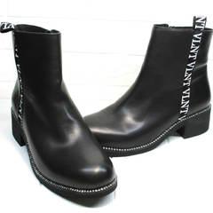 Женские ботильоны Jina 6845 Leather Black