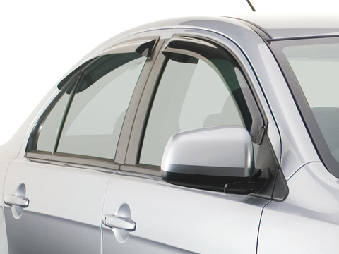 Дефлекторы боковых окон для Mitsubishi L200 2007- темные, 4 части, EGR (92460028B)