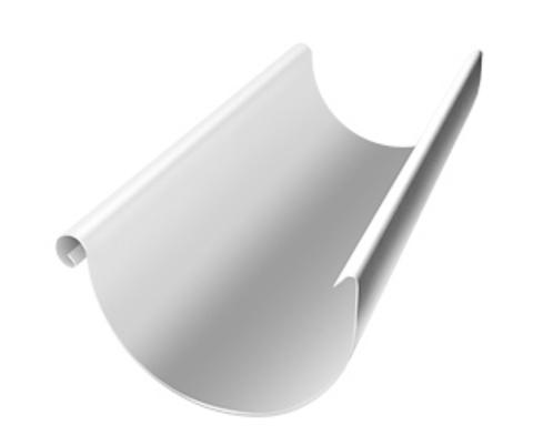 Желоб полукруглый ф 125-3м (RAL 9003)