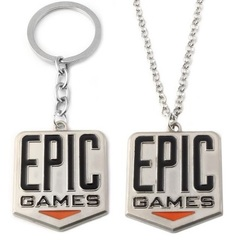 Фортнайт брелок и кулон логотип компании Epic Games