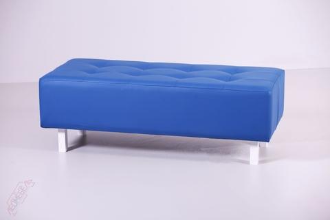 Пф-202 Пуфик прямоугольный для магазина (синий)