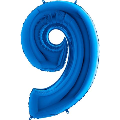 Цифра 9 (Синяя)
