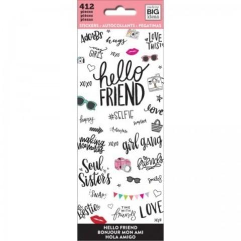Блокнот со стикерами-MAMBI Stickers Hello Friend -412 шт