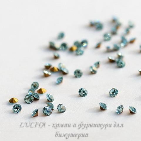 1028 Стразы Сваровски Aquamarine PP 6 (1,3-1,35 мм), 20 штук