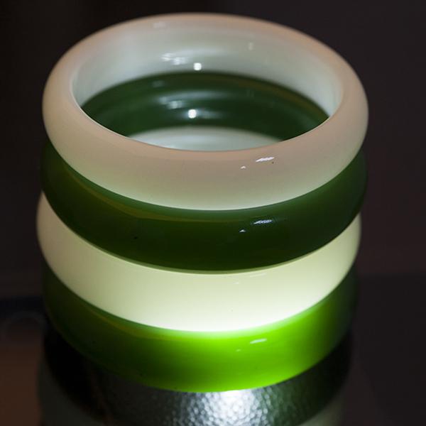 Браслет цельный из зелёного нефрита