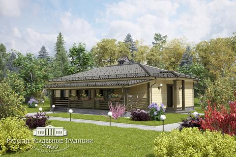 """Проект одноэтажного дома """"Бета"""" 130 кв.м."""