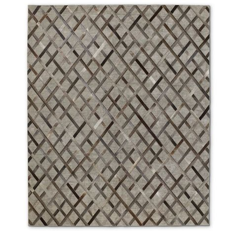 Cuero Hide Rug - Grey/Charcoal