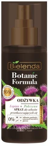 BOTANIC FORMULA Питательный спрей для жирных волос ЛОПУХ+КРАПИВА, 150мл