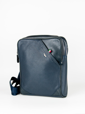 Кожаная сумка через плечо  Aeronautica Militare blue, AM-311, фото 3