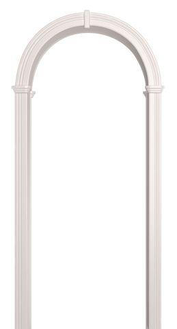 Арка межкомнатная ПВХ Лесма, Валенсия, цвет белая эмаль