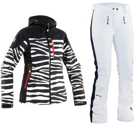 Костюм горнолыжный 8848 Altitude Teksas/Estelle женский Zebra/White распродажа