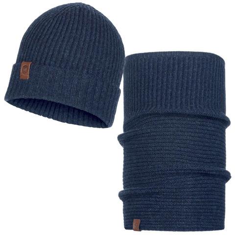 Комплект шапка-шарф Buff Biorn Dark Denim