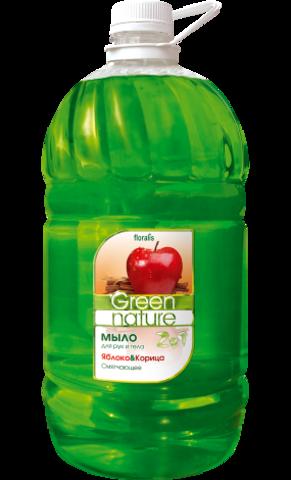 Floralis Green Nature Мыло для рук и тела 2в1 Яблоко & Корица 5000г
