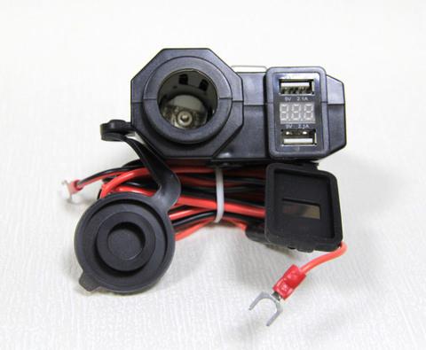 Прикуриватель и 2 USB-разъема с индикатором вольтажа, X-75