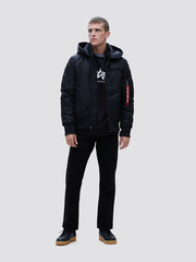 Куртка Alpha Industries MA-1 Hooded Rib Flight Jacket Black