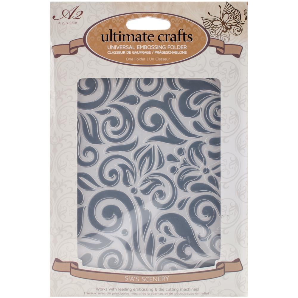 Папка для тиснения Ultimate Crafts Embossing Folder A2 - Sia`s Scenery