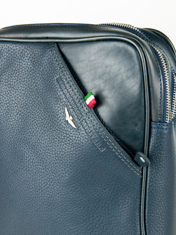 Кожаная сумка через плечо  Aeronautica Militare blue, AM-311, фото 4
