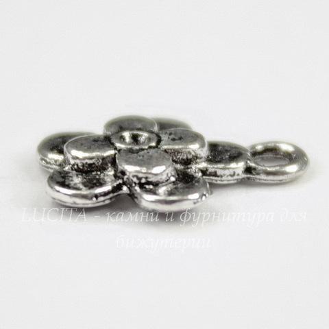 """Подвеска """"Цветочек"""" 14х11 мм (цвет - античное серебро)"""