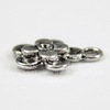 """Подвеска """"Цветочек"""" (цвет - античное серебро) 14х11 мм"""