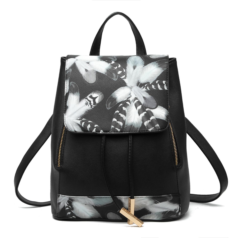 Женский средний рюкзак 24х29х15 см чёрный 3588-7