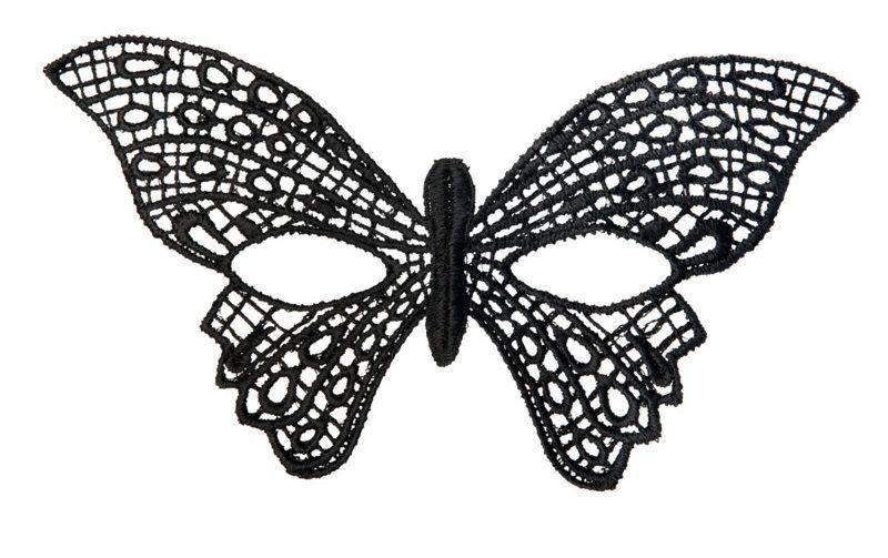 Перчатки и аксессуары: Нитяная маска в форме бабочки