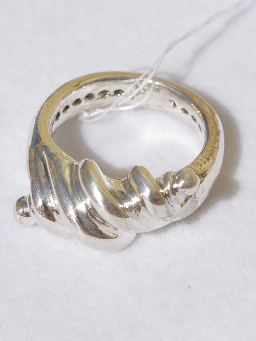 Спиралька (кольцо из серебра)