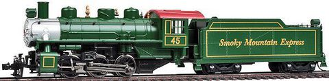 BACHMANN В50440 Паровоз с тендером USRA 0-6-0 с дымогенератором, H0, II, Smoky Mountain #97, DCC