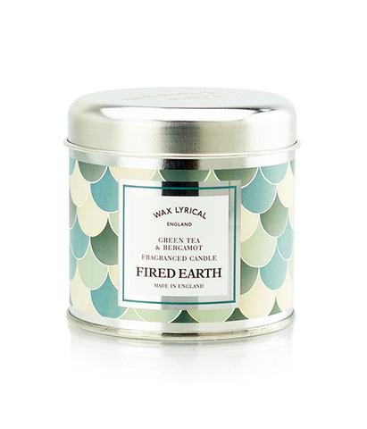 Свеча ароматическая в металле Зеленый чай и бергамот, Wax Lyrical