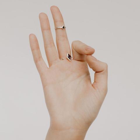 Кольцо RHOMB - Черный оникс