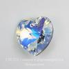 6202/6228 Подвеска Сваровски Сердечко Crystal AB (18х17,5 мм)