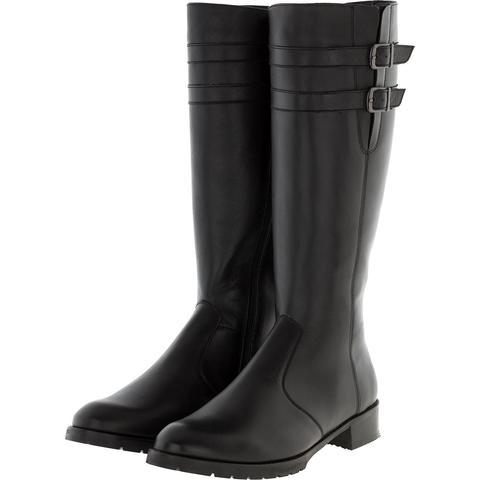 635507 Сапоги женские черные кожа. КупиРазмер — обувь больших размеров марки Делфино