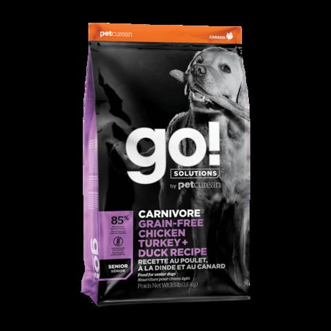 Go! Carnivore Сухой корм для пожилых собак 4 вида мяса с курицей, индейкой, уткой и лососем (беззерновой)